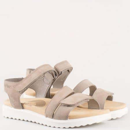Eжедневни дамски сандали на комфортно ходило Legero в бежов цвят 600702bj