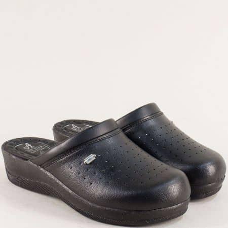 Черни дамски чехли със затворени пръсти- MAT STAR 606003ch