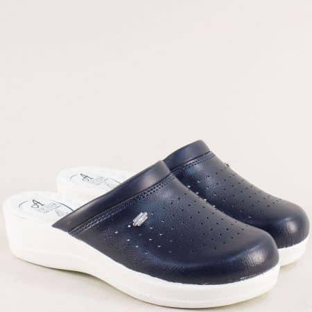 Сини дамски чехли със затворени пръсти- MAT STAR 606003s