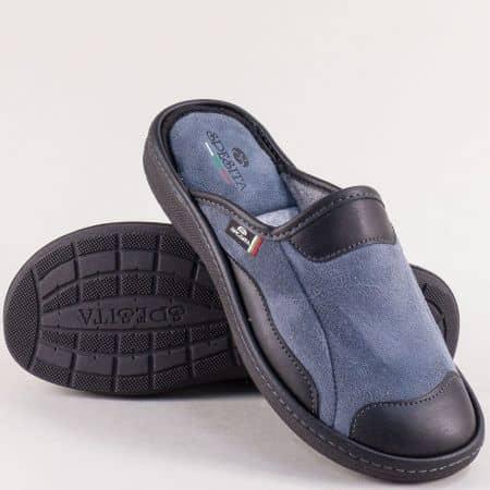 Домашни мъжки пантофи- SPESITA в сив цвят 613-45sv