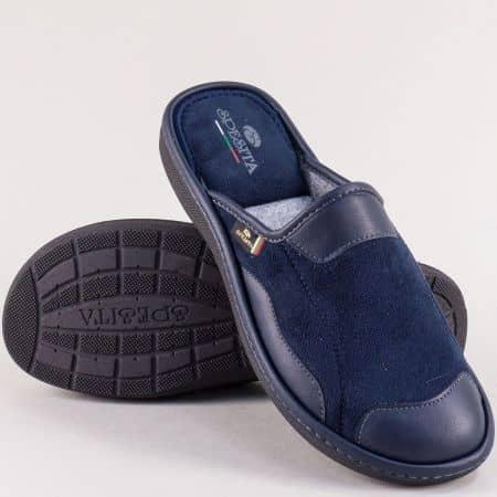 Мъжки дамашни пантофи в тъмно син цвят- SPESITA 613-45ts