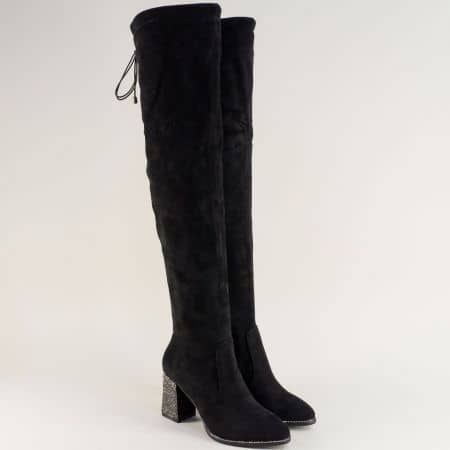 Черни чизми на ефектен ток Eliza 63582vch