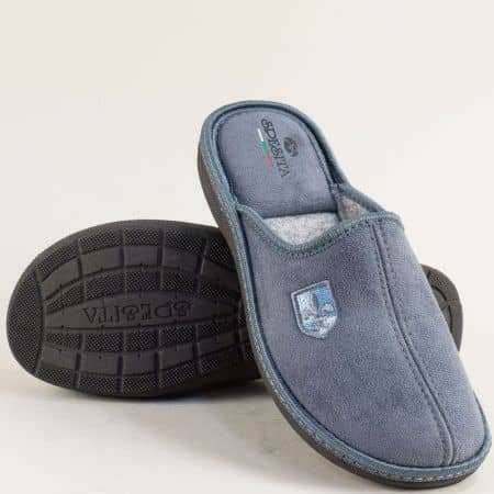 Мъжки дамашни чехли в сив цвят- Spesita 640-45sv