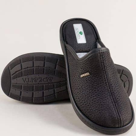 Мъжки домашни чехли в черен цвят- SPESITA 643-45ch