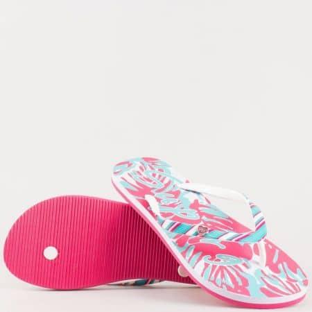 Дамски джапанки с лятна свежа визия на удобно ходило в бяло, синьо и розово 646ck
