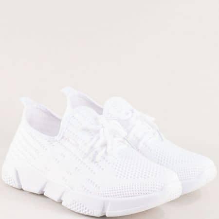 Бели спортни дамски обувки от текстилна мрежа 6631753b