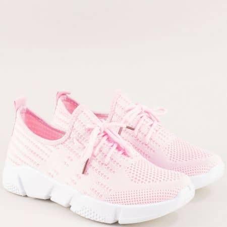 Спортни дамски обувки на удобно ходило в розов цвят 6631753rz