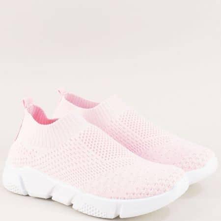 Спортни дамски обувки на гъвкаво ходило в розов цвят 6631758rz