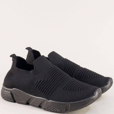 Черни плетени маратонки 6631801ch