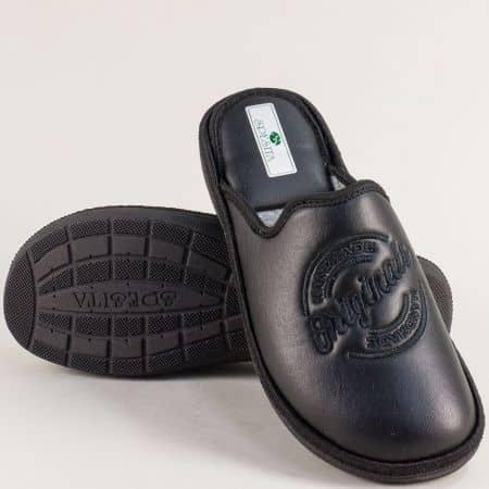 Домашни мъжки пантофи в черен цвят- SPESITA 667-45ch