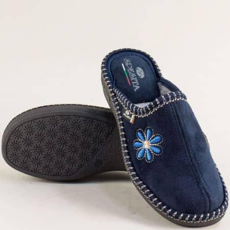Дамски домашни пантофи в син цвят-  Spesita 670-40ts
