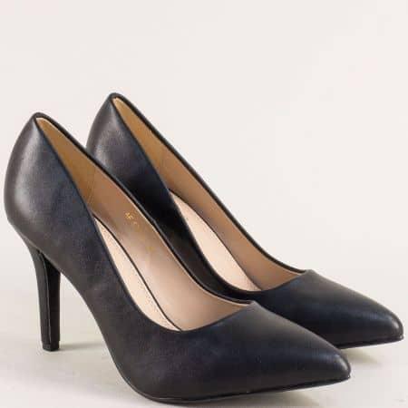 Черни дамски обувки на елегантен висок ток- ELIZA 6789ch