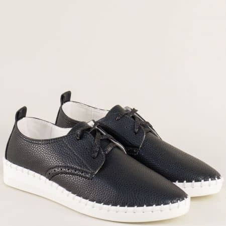 Спортни дамски обувки в черен цвят на равно ходило 6903ch