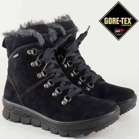 Черни дамски боти на грайферна платформа- Legero  700503vch