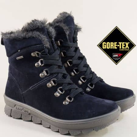 Сини дамски боти GORE TEX 700503vs