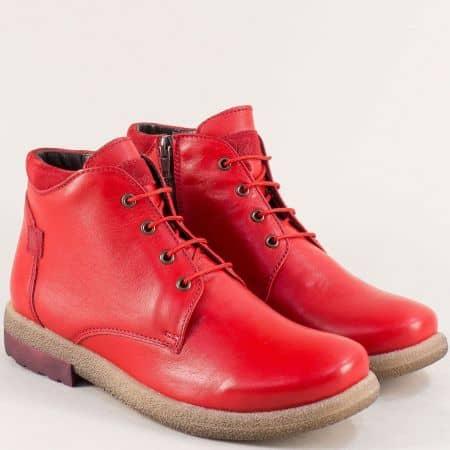 Червени дамски боти от естествена кожа и каучук- NOTA BENE 725431101chv