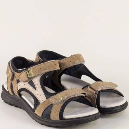 Анатомични дамски сандали в черно и кафяво- Legero 73226k