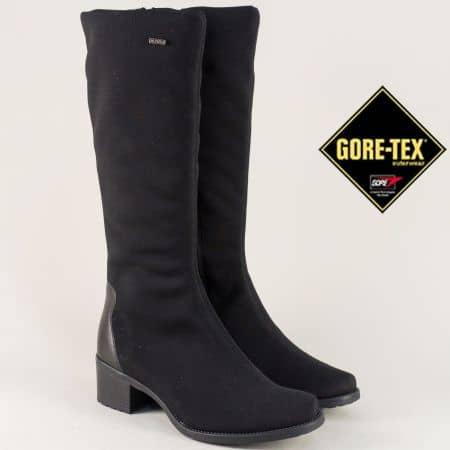 Черни дамски ботуши с Gore- Tex мембрана на нисък ток  7531sch