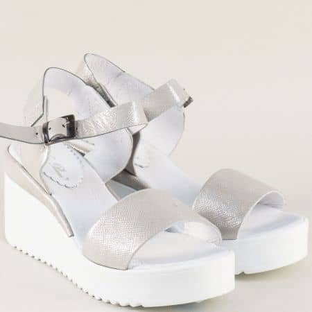 Сребърни дамски сандали на платформа- NOTA BENE 761481164brz
