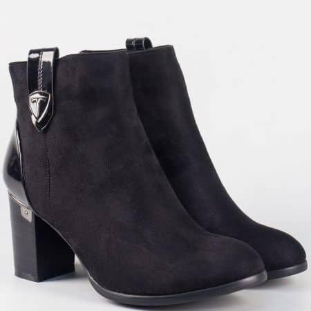Красиви дамски боти на висок ток- Eliza в черен цвят 8063123vch