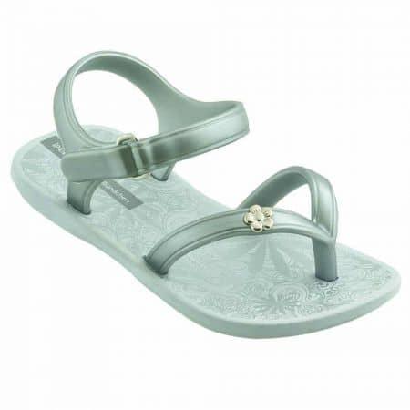 Комфортни детски сандали Ipanema с каишка между пръстите в сиво и сребристо 8091120932
