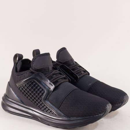 Черни мъжки маратонки 8107ch