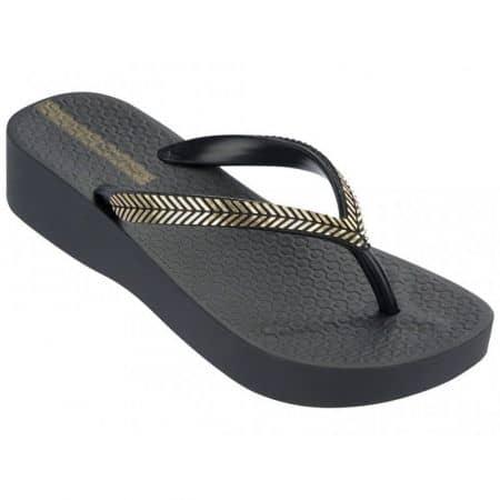 Бразилски дамски чехли Ipanema с ленти между пръстите в черен цвят 8125622039