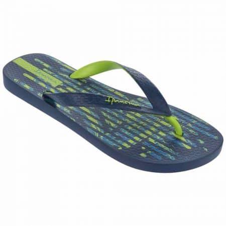 Свежи мъжки джапанки с лента между пръстите- Ipanema в синьо и зелено 8171123563