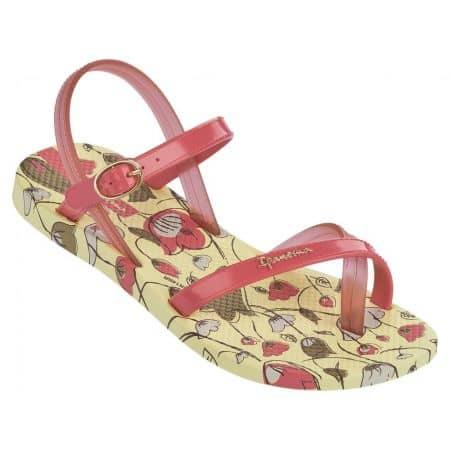 Детски комфортни сандали с лента между пръстите на бразилският производител- Ipanema в жълто, зелено, розово и червено  8171521864