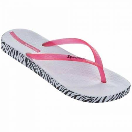 Бразилски дамски джапанки с лента между пръстите и комфортно ходило с ефектен принт- Ipanema в бяло, розово и черно 8189020755