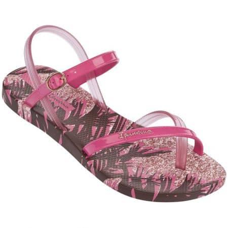 Дамски сандали Ipanema между пръстите в розов и цикламен цвят на комфортно ходило 8192922521