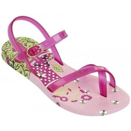 Детски сандали с лента между пръста в розов цвят 81930210380