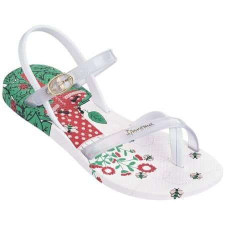 Бели детски сандали на комфортно равно ходило 8193021552