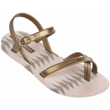 Детски сандали между пръстите Ipanema в златист и бежове цвят 8193022216