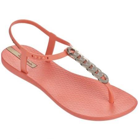 Дамски сандали Ipanema в оранж и сребро на равно ходило 8193222309