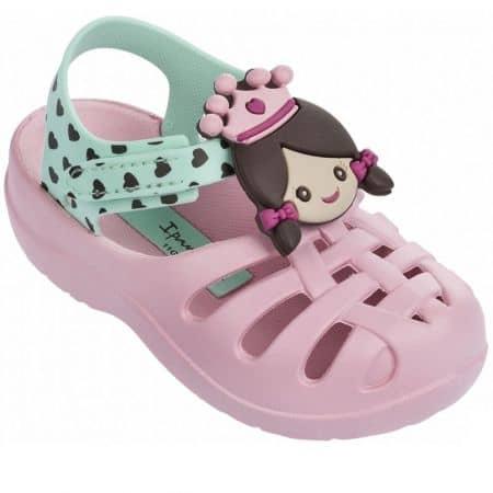 Детски сандали Ipanema на комфорно ходило в розов и зелен цвят 8194823616
