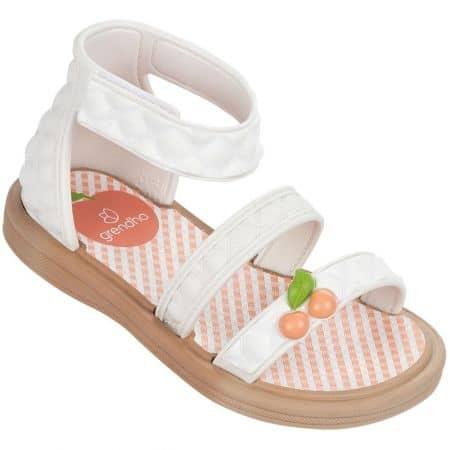 Бели детски сандали с велкро лента- GRENDHA 8197423034