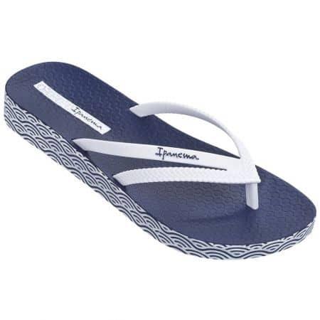 Дамски джапанки Ipanema в син и бял цвят на комфортно ходило 8206421308