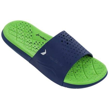 Мъжки джапанки в зелено и синьо с цяла лента- RIDER 8220923563