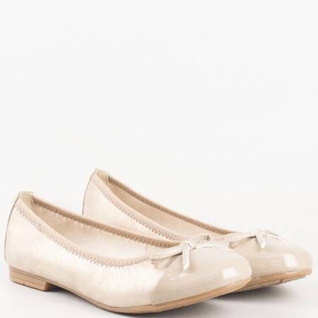Равни дамски обувки, тип балерини на немският производител  Jana в бежов цвят 822108bj