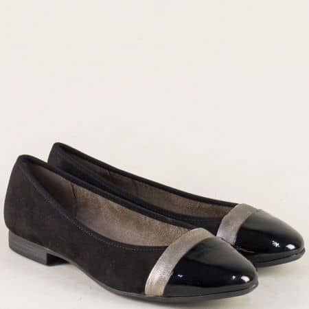 Немски дамски обувки в черен цвят на равно ходило 82216520vch