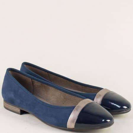 Дамски обувки в син цвят на равно ходило- Jana 82216520vs