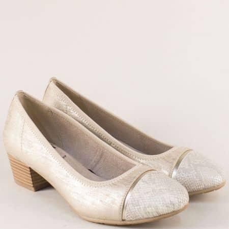 Златисти дамски обувки Jana на стабилен среден ток 822300zl