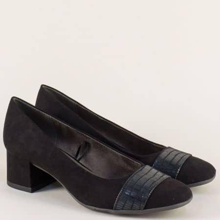Дамски обувки в черен цвят с Flex - Comfort система - Jana 822304vch