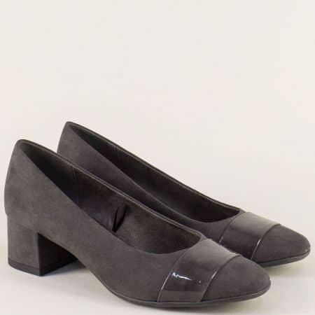 Сиви дамски обувки на среден ток с Flex - Comfort система 822304vsv