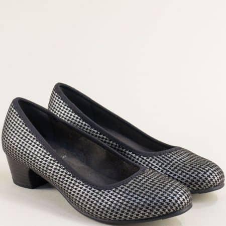 Обувки в черно и сребърно от немския производител JANA колекция SoftLine 822361chsr