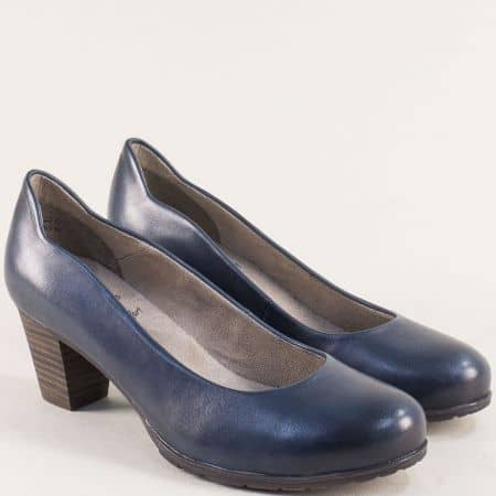 Тъмно сини дамски обувки с Flex - Comfort система- Jana 82240422s