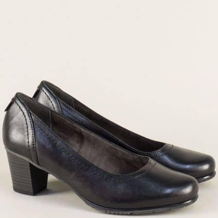 Немски дамски обувки от естествена кожа в черен цвят 82240429ch