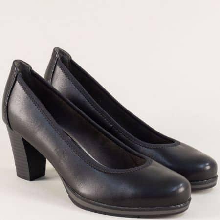 Дамски обувки в черен цвят на висок ток и платформа  822408ch