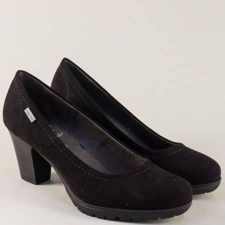 Дамски обувки на висок ток в черен цвят- Jana 822440vch